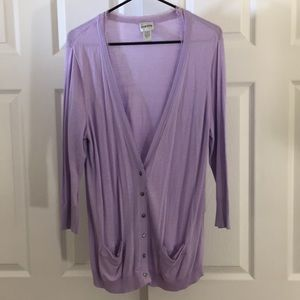 Chico's 3 lavender shabby chic cardigan